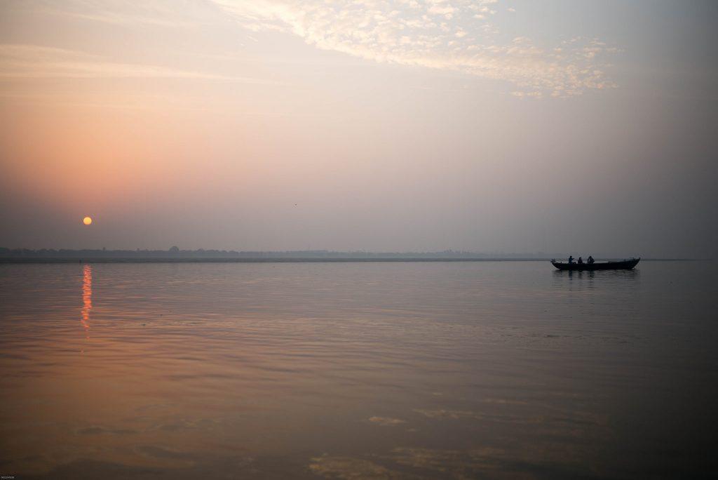 river ganga sunrise photo
