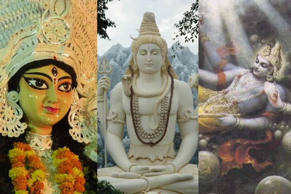 durga shiva and vishnu image